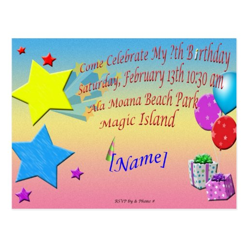 birthday card invitation sample - Intoanysearch - Birthday Card Sample