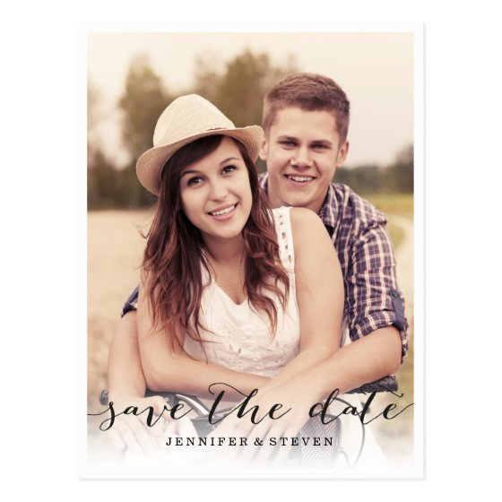 SAVE OUR DATE | SAVE THE DATE SCRIPT ANNOUNCEMENT POSTCARD