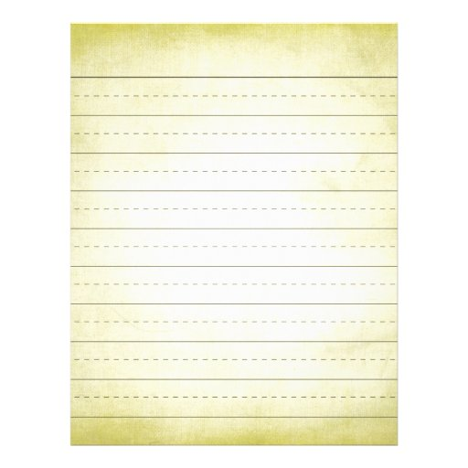 yellow lined paper template - lined paper with drawing box
