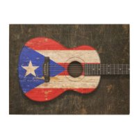 Puerto Rican Flag Wood Wall Art | Zazzle