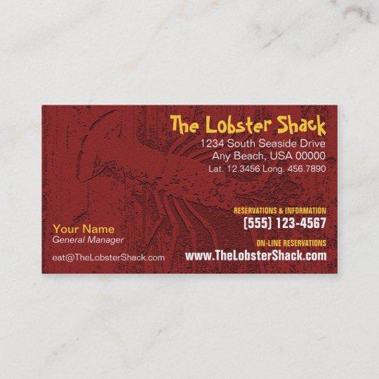 Seafood Restaurant Business Card Zazzle