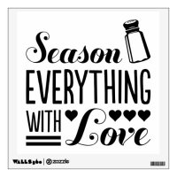 Season Everything with Love Kitchen Quote Wall Decal ...