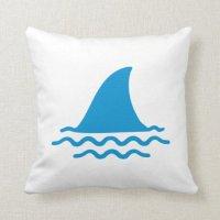 Shark fin throw pillows | Zazzle