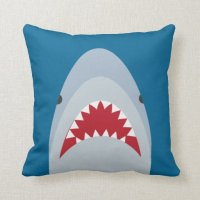 Shark Throw Pillow | Zazzle