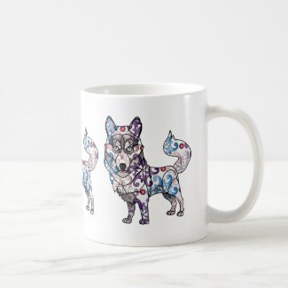 Siberian Husky - Colored Coffee Mug