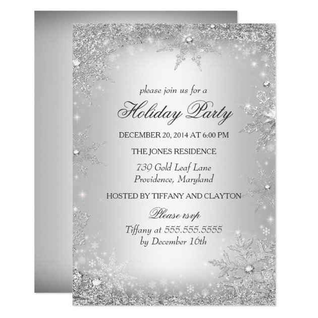 Silver Winter Wonderland Christmas Holiday Party