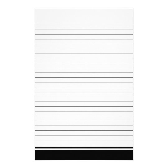Simple Lined Paper for Notes Stationery Zazzle