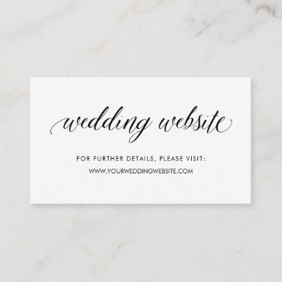 Wedding Website Insert Card for Invitations Zazzle