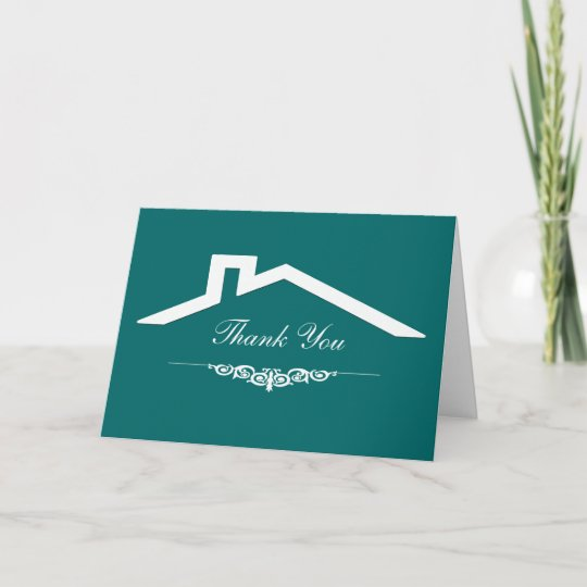 Simple Real Estate Business Thank You Cards Zazzle