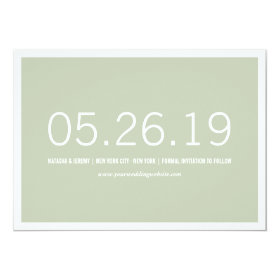 Simply Timeless Modern Save The Date Photo Card