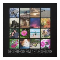 Sixteen Rounded Corners Photo Collage or Instagram Panel ...