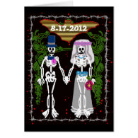 skeleton wedding 1 greeting card