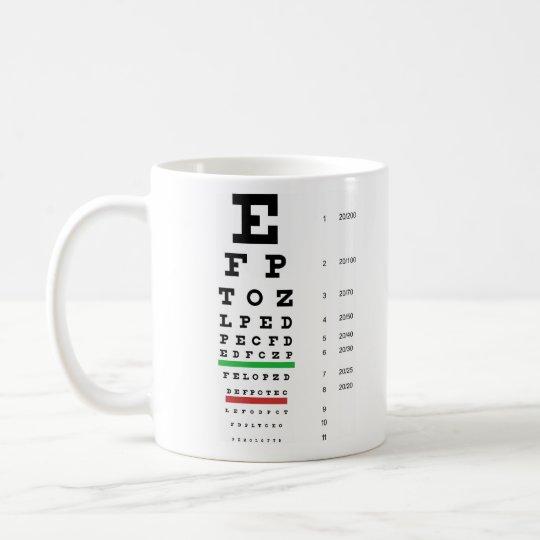 Snellen Eye Chart Mug Zazzle
