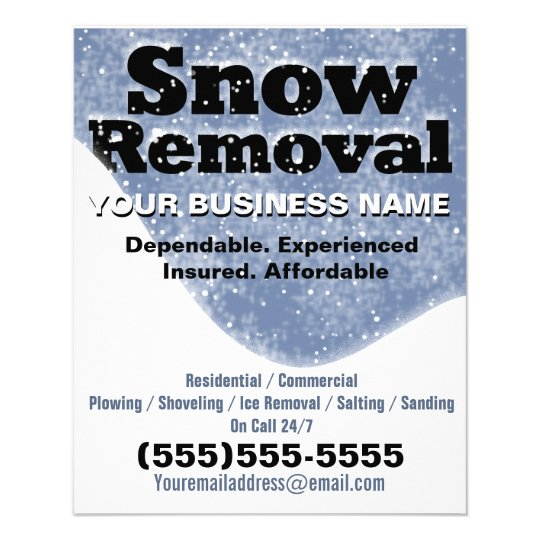Snow Removal Winter Plowing Template Flyer Zazzle