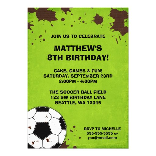 Personalized Soccer Party Invitations CustomInvitations4U