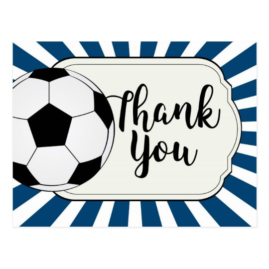 Soccer thank you card, football thank you card Zazzle