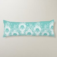Soft peacock feathers body pillow   Zazzle