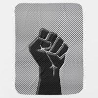 Solidarity Fist Carbon Fiber Decor Style Receiving Blanket ...