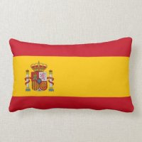 Spain  Spanish Flag Pillows | Zazzle