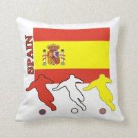 Spanish Soccer Players Throw Pillow