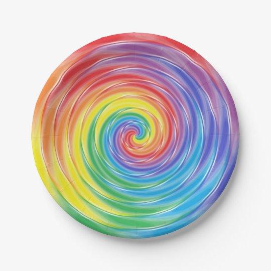 Spinning Rainbow Paper Plates Zazzlecom