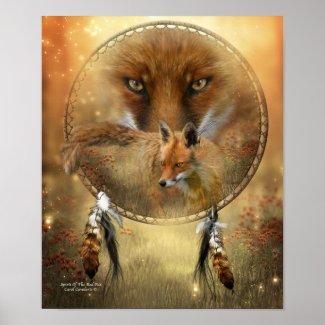Spirit Of The Red Fox Art Poster/Print