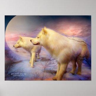 Spirit Of The White Wolf Art Poster/Print