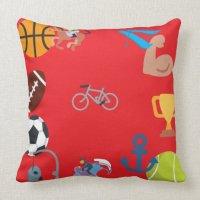 sports emoji throw pillow   Zazzle