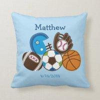 Sports Keepsake Pillow   Zazzle