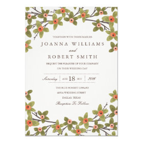 Spring Buds Wedding Invitation