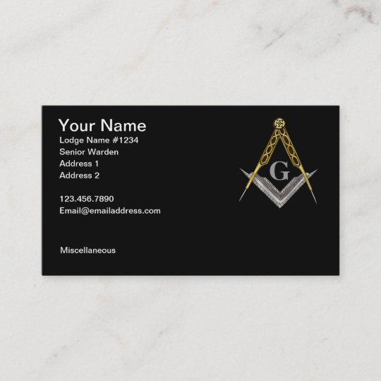 Square and Compass with All Seeing Eye Business Card Zazzle