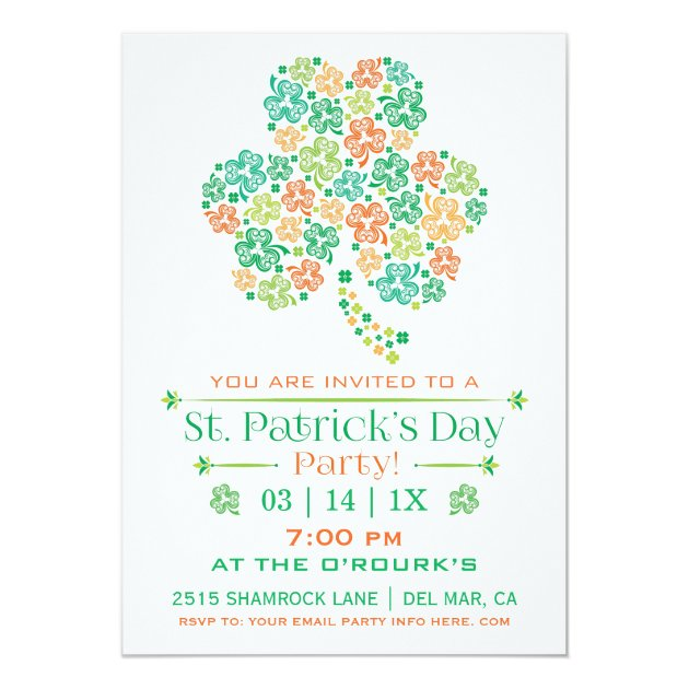 Personalized Irish party Invitations CustomInvitations4U - 's day party invitation