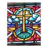 Stained Glass Window Cross Design Flyer | Zazzle