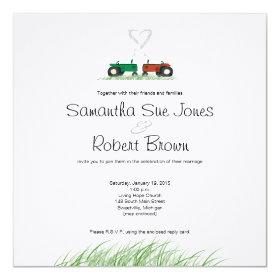 Summer Farm Wedding Invitation