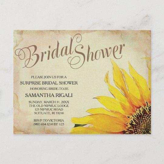 Sunflower Bridal Shower Invitation Zazzle