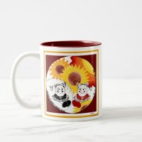 Sunflower Ceramic Coffee Mug - Whimsical Art Mug | Zazzle