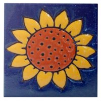 Sunflower Ceramic Photo Tile | Zazzle