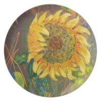 sunflower dinner plates