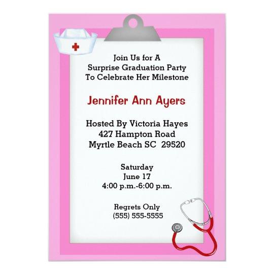 nursing graduation party invitations thevillas grad party invitations