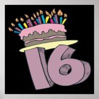 Happy Sweet 16 Posters, Happy Sweet 16 Prints, Art Prints ...