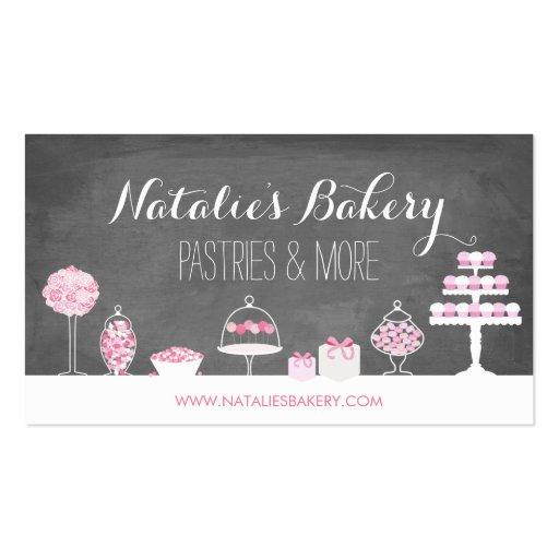 Sweet Treats Chalkboard Bakery Business Card
