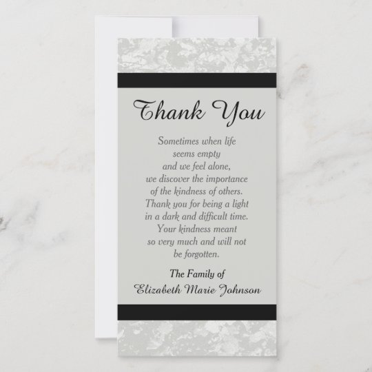 Sympathy Memorial Thank You Photo Card - Classic Zazzle