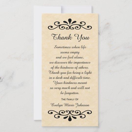 Sympathy Thank You Photo Card Parchment Look Zazzle