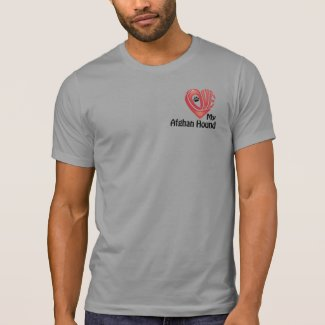 T-shirt Men's: Love My Afghan Hound
