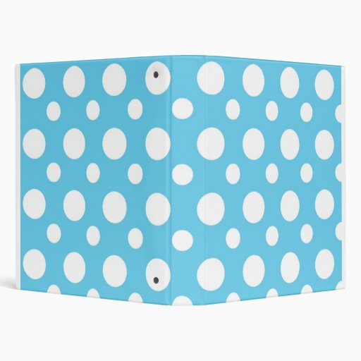 Antislip Douchemat Gamma Teal And White Polka Dots School Notebook 3 Ring Binder
