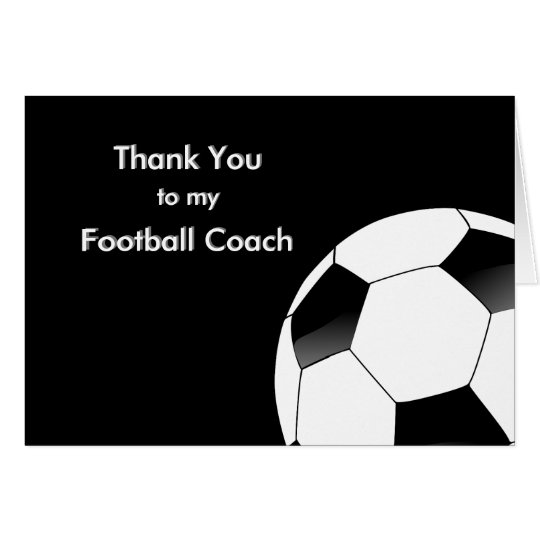 Thank You to my Soccer  Football Coach Zazzle