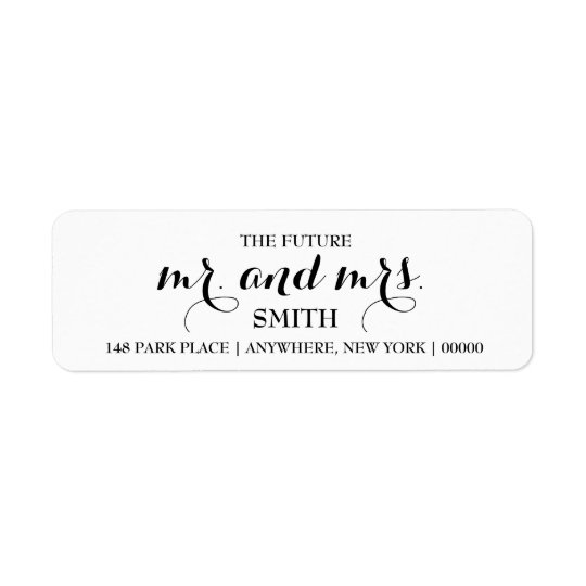 The Future MR  MRS Return Address Labels Zazzle - Address Label