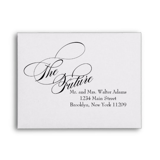 The Future Mr  Mrs RSVP Envelope Card Wedding Zazzle - wedding rsvp envelope size