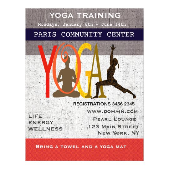 The Lotus The Warrior Cute Exercise Yoga Flyer Zazzle