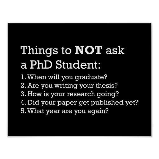 Things not to ask a PhD student phD Pinterest Phd student - nurse researcher sample resume